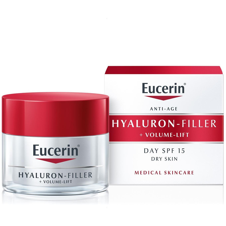 Eucerin Hyaluron-Filler + Volume Lift Dia FPS 15 para pele seca