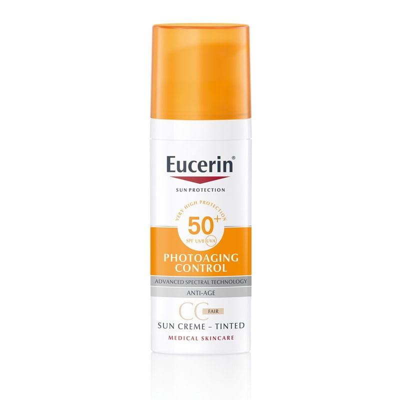 Eucerin Anti-age Tonirana krema za zaštitu od sunca SPF 50+ Svetla