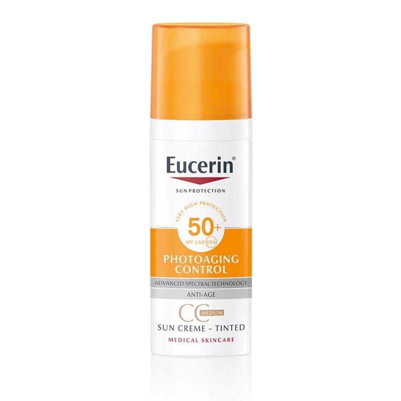 Eucerin Anti-age Tonirana krema za zaštitu od sunca SPF 50+ Tamna
