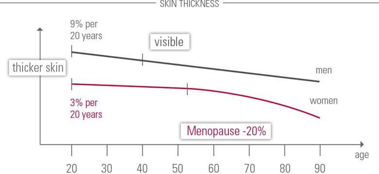 Skin thickness diagram