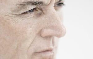 Older man´s face close-up