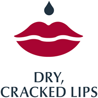 Cracked, dry lips icon