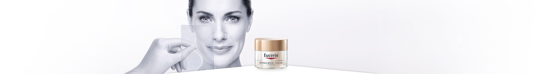 Eucerin ādas kopšanas līdzekļi ar pildvielām, kas uzlabo ādas elastību un izlīdzina dziļas grumbas
