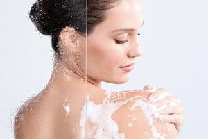 Cleanse gently before using after sun cream