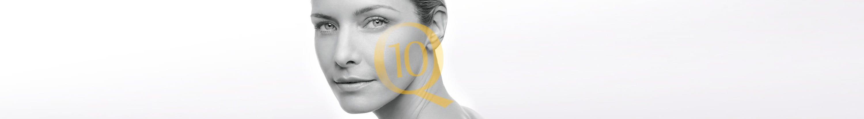 Woman with sensitive facial skin