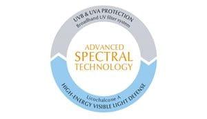 apsaugos nuo saulės priemonė riebiai ir į aknę linkusiai veido odai su technologija Advanced Spectral