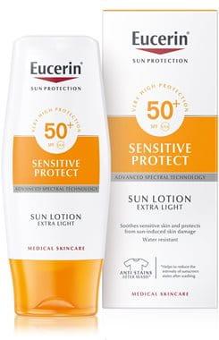 Eucerin Sun ekstra lahek losjon za zaščito pred soncem ZF 50