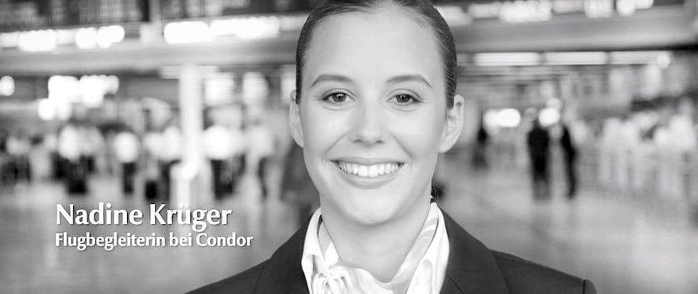 Nadine Krüger, Stewardess bei Condor über die Pflege ihrer Haut