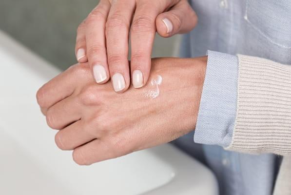 Trockene Haut an Händen