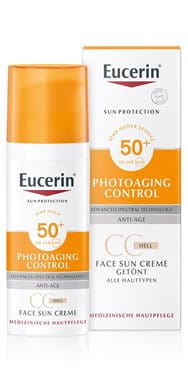 Getönter Sonnenschutz für das Gesicht