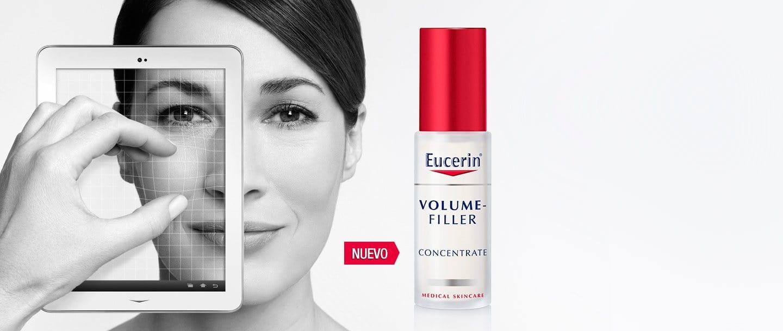 Por qué la piel se vuelve flácida y los productos para la pérdida de volumen, como Eucerin® Volume-Filler Serum.