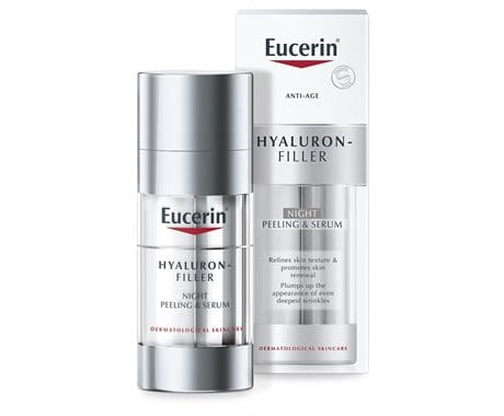 Eucerin Hyaluron Filler Night Peeling Serum Pack and Box