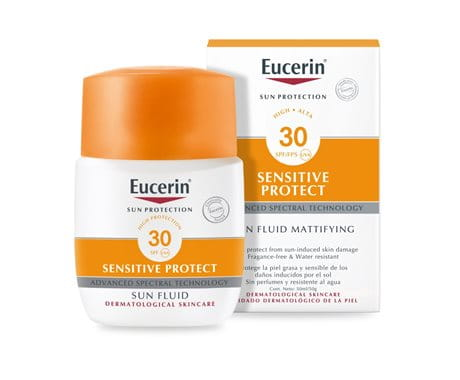 Eucerin Sun Fluid for sensitive skin face