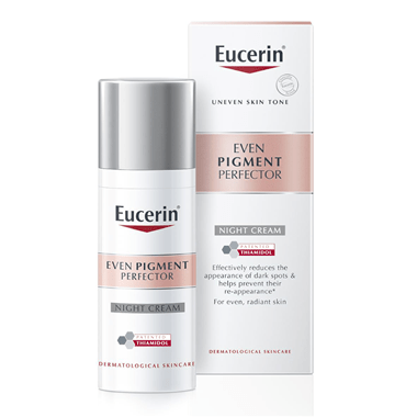 Even Pigment Perfector Night Cream Thiamidol Middle East Eucerin Duo