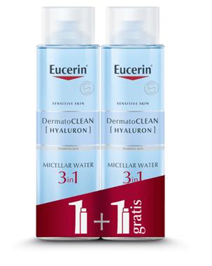 Micelarni čistilni fluid znamke Eucerin 400 ml 1+1