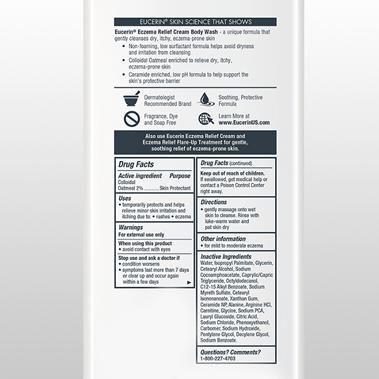 Eczema Relief Cream Body Wash Ingredients